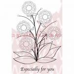 Woodware Clear Magic Singles Stamp - Bubble Bloom - Lynell [JGS449]