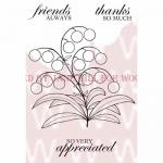 Woodware Clear Magic Singles Stamp - Bubble Bloom - Melanie [JGS448]