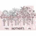 Woodware Clear Magic Singles Stamp - Flowers In A Row [JGS434]