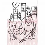 Woodware Clear Magic Singles Stamp - Graffiti Love [FRS608]