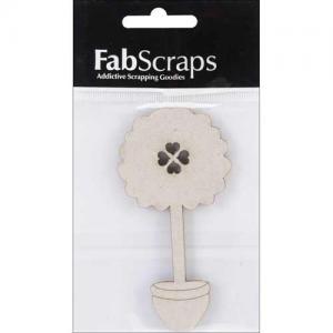 FabScraps Die Cut Chipboard Embellishment - Heart Tree [014]